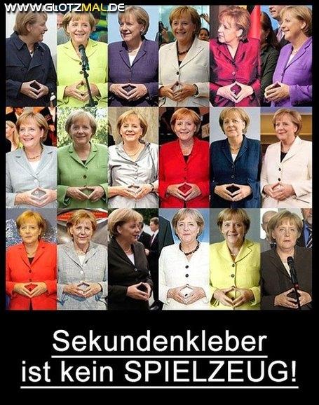 Merkel, das Spielkind...