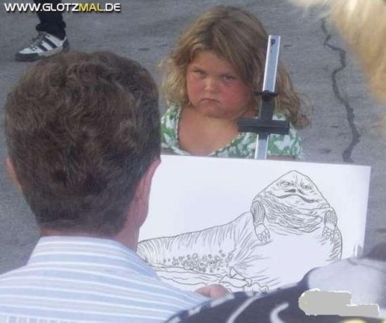 Karikatur von Mädchen